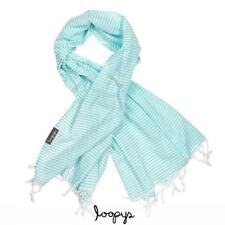 Turquoise and White Stripe Super Light Turkish Towel for Beach Bath Travel