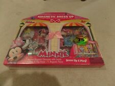 New listing Disney, Minnie Mouse Wooden Doll House Dress Up, 75 Pieces, New In Box