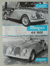 Prospekt morgan 4/4 1600 2-and 4-seater, plus 8, aprox. 1985, 2 páginas, inglés