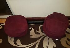 Pair of Maroon Beanbag Children's Bean Bag chair Beans Gamer Seat Cushion soft