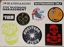 SKATEBOARD STICKER 10 PACK - Creature, Krooked, Vans, TK, Firm /   #SK82