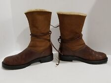 Santana womens brown snow and winter boots size 5-5.5 M