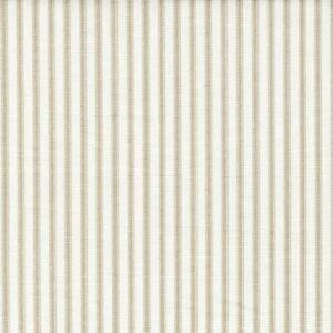 Carolina Linens Gathered Bedskirt in Farmhouse Sand Beige Ticking Stripe