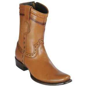 Men's King Exotic Genuine Pull Up Leather Western Boots Dubai Square Toe Zipper