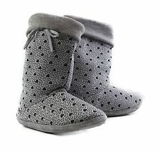 Womens GROSBY HEARTS HOODIES BOOTS Grey Black Slippers Ugg Boot Shoes S M L XL