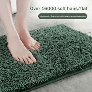 Chenille Bath Mat Luxury Super Soft Microfibre Deep Pile Bobble Mats Anti-slip