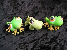 Littlest Pet Shop Lot of 3 Animals # 50 Green Tree Frog x2 #7 Turtle