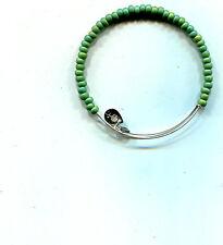 teal silver bracelet Alex & Ani green