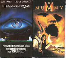 The Lawnmower Man (VHS, 1992) & The Mummy; 2 Horror VHS
