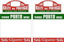 1994 RALLYE DE PORTUGAL RALLY PLATE STICKER SET