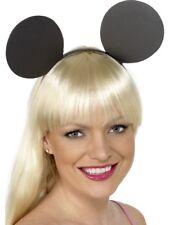Orecchie Da Topo su fascia nero ADDIO AL NUBILATO Micky Minnie Costume Smiffys