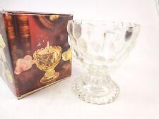 Vintage Avon glass bowl vase shape Candle Nwb