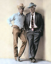 "PAUL NEWMAN LEE MARVIN POCKET MONEY 1972 ACTORS 8X10"" HAND COLOR TINTED PHOTO"