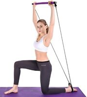 Yoga Pull Rods Portable Home Yoga Gym Body Abdominal Resistance Bands for Pilate