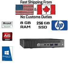 HP Elitedesk 705 G3 Tiny Mini AMD A6 PRO-8570E - 8GB, 256GB SSD, HDMI, DVI, DP