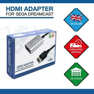 Sega Dreamcast HDMI Audio Video Cable Lead Adapter Adaptor Scart DVI VGA DC Mod