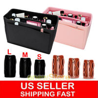 2-IN-1 Multi pocket Handbag Organizer Felt Purse Insert Storage Tote Liner Bag