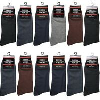 Lot 12 Pairs Mens Classic Dress Socks Fashion Casual Cotton Size 10-13 (#347-1L)