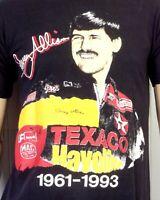 vtg 90s NASCAR racing Davey Allison 1993 T-Shirt Texaco Havoline Mac Tools sz M