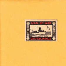 VINTAGE Match Matchbox Label DEEP RICH COLOR Man-of-War Battleship Poland B1