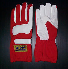Go Kart Racing Leather Racing Driving Gloves Red Adult Medium