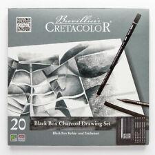 "Cretacolor 20 Piece Artist ""Black Box"" Charcoal and Graphite Drawing Set Pencils"