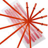 """10.5"""" Red Acrylic Straw Set of 10 With Cleaning Brush"""