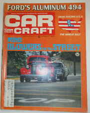 Car Craft Magazine Mind Blowers For The Street January 1970 WITH ML 030315r