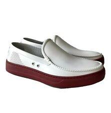 S-2318991 New Salvatore Ferragamo Fury 2 White Slip On Shoes Size US 8M