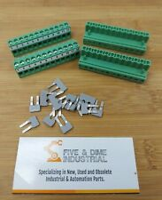 Lot Of 4 Phoenix Contact 12 Pin Screw Terminal Block With Jumpers Ye112