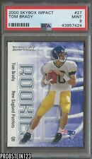 2000 Skybox Impact #27 Tom Brady New England Patriots RC Rookie PSA 9 MINT