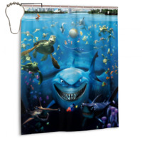 New Coming Finding Nemo Bathroom waterproof Fabric Shower Curtain 60 x 72 Inch