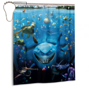 New Coming Finding Nemo Bathroom waterproof Fabric Shower Curtain 60 x 72 Inch