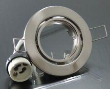 22x Einbaustrahler Rahmen schwenkbar + Fassung GU10 Eisen gebürstet metall