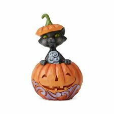 Jim Shore 6004330 Cat in Pumpkin Mini 2019 Halloween