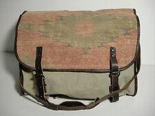 RALPH LAUREN Denim & Supply Cotton Canvas Leather Santa Fe Messenger Bag