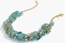 JCREW LUCITE GEM V0YAGE BLUE NECKLACE---NEW WITH TAG--SRP $98