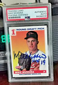 Mike Mussina PSA DNA Coa Autograph 1991 Score Rookie