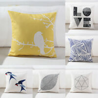 Simple Fashion Sofa Decor Throw Cotton Linen Pillow Case Cushion Cover 18inch