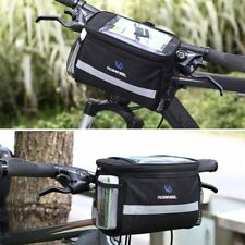 Bicycle Bike Handlebar Bag Cycle Reflective Front Pannier Waterproof Outdoor
