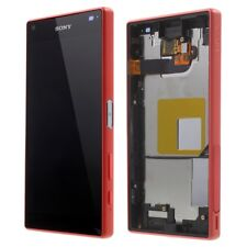 ECRAN COMPLET LCD + TACTILE + CADRE SONY XPERIA Z5 COMPACT ROUGE