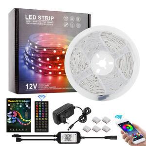 Music RGB LED Stripe 5050 SMD Leiste Streifen Band Licht Leuchte Lichterkette 5M