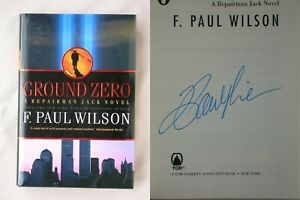 Signed GROUND ZERO F. Paul Wilson HARDCOVER REPAIRMAN JACK BOOK