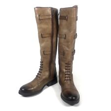 bace3109129 Vince Camuto Womens Size 5.5M Fenton Brown Leather Tall Riding Boots  Distressed