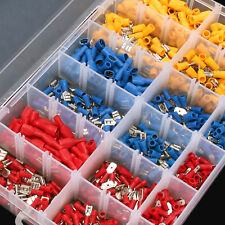 900 tlg Kabelschuhe Quetschverbinder Steckverbinder Sortiment Box Flachstecker