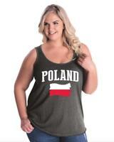 Poland  Women Curvy Plus Size Tank Tops