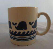 Otagiri Coffee Cup Mug Whale Ocean Waves Blue Japan