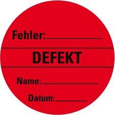 Organisationsetikett Defekt rot Haftpapier ablösbar Ø 60mm 500/Rolle