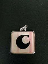 Pink and Black Charm Intial C Two Tone