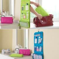 Foldable Wall Hanging Travel Toiletry Bag Cosmetic Organizer Storage Bags KV